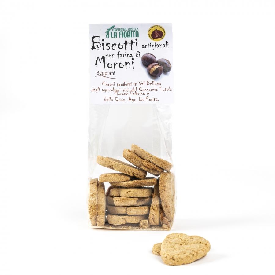 biscotti realizzati con farina di marroni